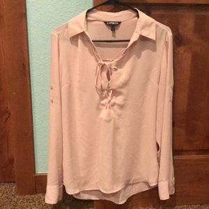 Business casual tie blouse